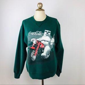 Vintage Coca-Cola Green Polar bear Crew sweatshirt